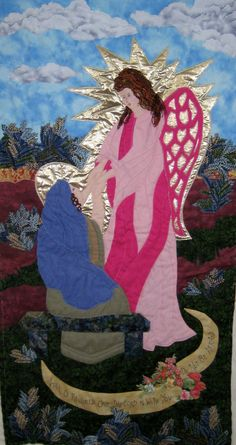 """""""Annunciation""""  designed and sewn by Carole Mitchell 2013"""