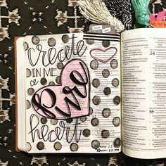 Bible Journaling by Kaylee King @wethreekingsillustrated | Psalm 51:10