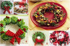 Wooloo | Idées sucrées et salées de recettes de couronnes de Noel Xmas Dinner, Edible Crafts, Merry Xmas, All Things Christmas, Decoration, Christmas Recipes, Desserts, Food, Funny Food
