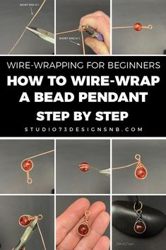 LEVEL: BEGINNER - Wire wrapping a bead is a simple and easy way to make a cute pendant which can be hung from a chain or cord.  #wirewrapping #wirewrapped #wirewrap #wirewrappedjewelry #diyjewelry #jewelrymaking #diy #wirejewelry #wirewrappingtutorials #wirewrappingforbeginners #wirewrappingtools #wirewrappedpendants #jewelrytutorials #wirewrappedjewelrybeginner #diycrafts #crafts