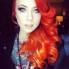Megan Massacre- I love a cute girl with a punky style. She looks like Daphne Blake, if Daphne Blake was a tattoo artist.