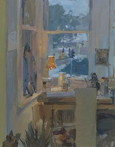 © Peter Brown Afternoon Snow, the Lamp in the Studio Painting Inspiration, Art Inspo, Art Graphique, Your Paintings, Gouache, Monet, Les Oeuvres, Painting & Drawing, Photo Art