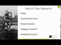 Genealogy Methodology:  Search Then Research
