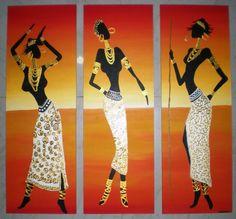 African Quilts, African Art Paintings, Africa Art, Acrylic Art, Folk Art, Modern Art, Art Gallery, Culture, Portrait