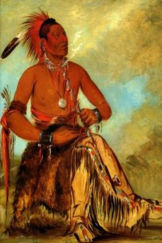 Wah Ro Nee SAH Chief of The Tribe USA American Indian 1832 George Catlin Repro | eBay