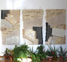 Hamptons Triptych: fiber wall hangings by All Roads