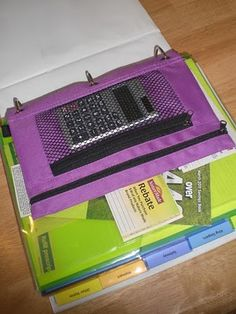 This is a highly efficient diy coupon organizer made from a basic 3 ring binder and complete with calculator