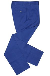 Epaulet Slim Walt Regiment Twill Trouser Royal Blue
