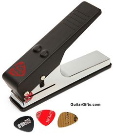 Pick Punch - Makes Guitar Picks from Credit Cards and Hotel Card Keys! - This is one hot and fun product and a terrific guitar gift idea for the musician in your life. This would also make a cool craft idea. Have fun with picks. DIY  #guitar #gifts