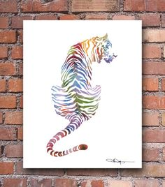 Tiger-Abstract-Colorful-Watercolor-Painting-Art-Print-by-Artist-DJ-Rogers