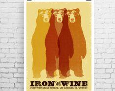 Iron & Wine Gig Poster
