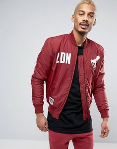 Get this Abuze London's bomber jacket now! Click for more details. Worldwide shipping. Abuze London LDN MA1 Bomber Jacket - Red: Jacket by Abuze London, Smooth woven fabric, Baseball collar, Zip fastening, Ribbed trims, Regular fit - true to size, Dry clean, 100% Polyester, Our model wears a size Medium and is 185.5cm/6'1 tall. (bomber, bómber, bombers, estilo bomber, bomberjacke, bomber, blouson, bomber)