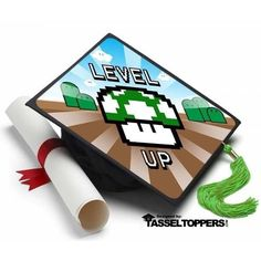 Info You've just won! You've defeated those tricky tests and gained a ton of experience points. Welcome to the next level. Decorate your Graduation Cap with this cool looking Topper. About A Tassel To