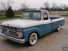 66 Ford Truck - Daddy had one similar to this, and it was handed down to my little bro. His first wheels!!