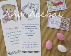 Marcapáginas de Bautizo y Nacimiento  www.pihippie.com