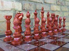 Peças 'pretas' do Jogo de Xadrez