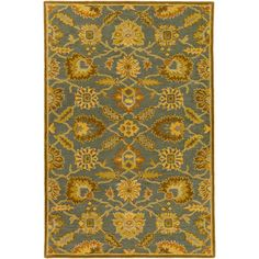 World Menagerie Topaz Hand-Tufted Tan Area Rug Rug size: Oval 6' x 9'