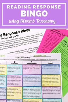 This great Reading Response BINGO is the perfect reading activity for your middle school classroom (grades 5-8). It has fun reading and writing activities, incorporates art activities, and so much more! You can use this with virtually any piece of literature you're teaching this year!