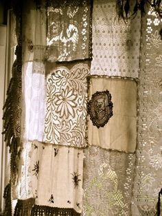 Patchwork Antique Linen Curtain