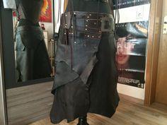 Leather Skirt man Woman Medieval Larp elves Vikings von Elbengard