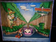 Paper Mario Sticker Star Diorama  #Mario #Nintendo #3ds