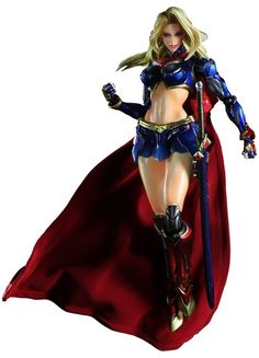 Supergirl DC Comics Play Arts Kai Variant Action Figure