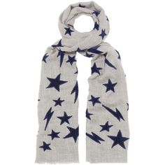 Lily and Lionel Let There Be Light Scarf - Grey & Navy ($195) ❤ liked on Polyvore featuring accessories, scarves, star scarves, navy blue shawl, gray scarves, velvet shawl and navy scarves