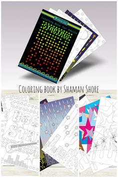 Adult Coloring Book With Colored Samples 10 Pages And 6 Completed Examples For Ideas