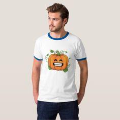 #Pumpkin Big Smile Emoji Thanksgiving Halloween Shi T-Shirt - #emoji #emojis #smiley #smilies