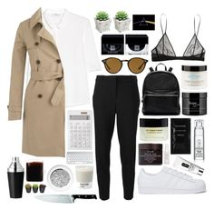 """""""Untitled #111"""" by nostalgiaconclusion ❤ liked on Polyvore featuring MANGO, MICHAEL Michael Kors, J.Crew, adidas Originals, Yves Saint Laurent, Elizabeth and James, Ray-Ban, Cleanse by Lauren Napier, Givenchy and philosophy"""