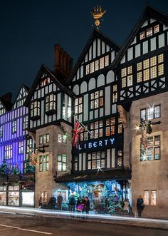 A Tudor Revival building hosts the London department store, Liberty.