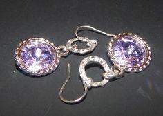 Violet Swarovski Elements Crystal Rivoli by LisasOriginals on Etsy