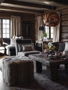 Love the introduction of copper into a chalet design Chalet Design, Cabin Design, Rustic Design, Design Design, Cabin Homes, Log Homes, Chalet Interior, Cabin Interiors, Cabins And Cottages