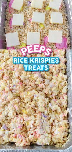 Rice Krispie Treats, Rice Krispies, Rice Krispy Treats Recipe, Easter Peeps, Easter Treats, Easter Food, Hoppy Easter, Best Dessert Recipes, Fun Desserts