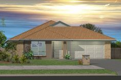 GJ Gardner Home Designs: Redland Bay - Facade Option 2. Visit www.localbuilders.com.au/home_builders_western_australia.htm to find your ideal home design in Western Australia