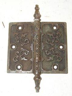 Victorian door hinge, when art influenced Everything!!!