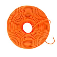 DIY Fabric Wire Bulk by the Foot - Neon Orange