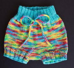 Free Knitting Pattern - Baby Knits: Bubble Bum Baby Bloomers
