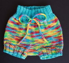 Free Knitting Pattern - Baby Knits: Bubble Bum Baby Bloomers