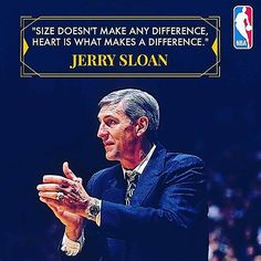 Quote from Hall of Fame member Jerry Sloan💡🏀 . . . . #basketball #quotes #quote #motivation #nba #jerrysloan #bball #dunk #layup #basketballquotes