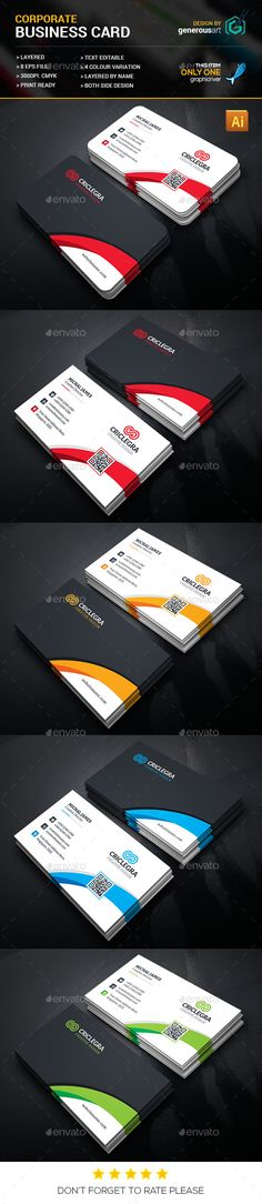 Corporate Business Card Design - Corporate Business Card Template Vector EPS, Vector AI. Download here: http://graphicriver.net/item/corporate-business-cards/16427770?s_rank=105&ref=yinkira