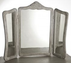 weathered oak dressing table mirror