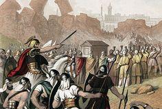 Biblical Art, Painting, Enemies, City, Seven Days, Craft, Folk, Dios, Battle Of Jericho