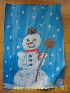 Winterknutsel sneeuwpop
