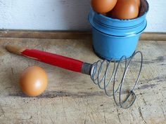 Your place to buy and sell all things handmade Primitive Kitchen Decor, Country Primitive, Country Kitchen, Wire Whisk, Egg Beaters, Handmade Wire, Red Paint, French Country Decorating, Vintage Kitchen