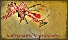 Γούρι 2014 με καρό κορδέλα και κανέλες! http://goo.gl/IsKgvK