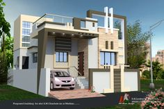 D K HOME DESIGN is an online designing company provides all kind of front elevation house design in India. House Balcony Design, House Main Gates Design, Single Floor House Design, Village House Design, Bungalow House Design, House Front Design, Design Your Dream House, Small House Design, 3d Home Design
