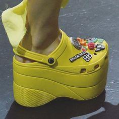 dafc5012f8f balenciaga ss18 paris pfw crocs fashion demna gvasalia Platform Crocs
