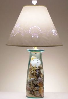 Make a Lamp from a Vase or Jar to Fill with Treasures