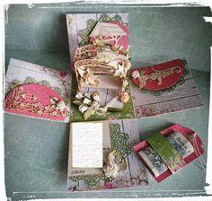 Urodzinowy exploding box dla wielkiej miłośniczki ogrodowej :)  Papiery…